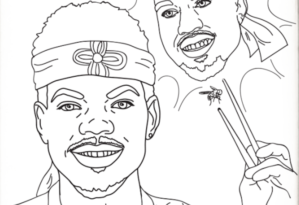 Un carnet de coloriage pour illustrer le nouvel album de Coloring book 2 chance the rapper